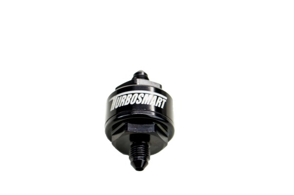 Billet Turbo Oil Feed Filter 44um -4AN – Black