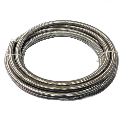 -6AN 100 Series Stainless Steel Rubber Braided Hose