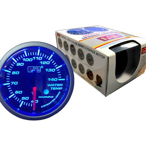 AUTOGAUGE Water Temp Gauge BLUE LED Series + Warning Light