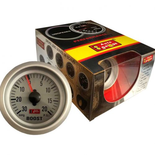 AUTOGAUGE Boost Gauge WHITE Series