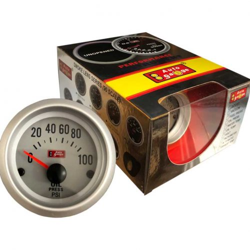 AUTOGAUGE Oil Pressure Gauge WHITE Series