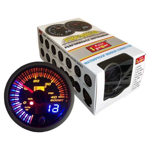 AUTOGAUGE Boost Gauge JDM Series + Adjustable Warning Light