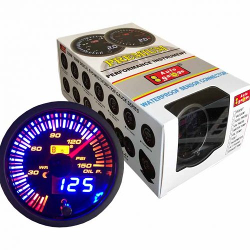 AUTOGAUGE Oil Pressure Gauge JDM Series + Adjustable Warning Light