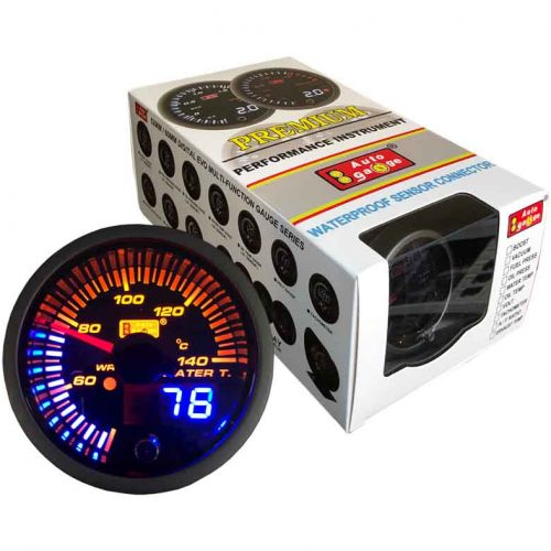 AUTOGAUGE Water Temp Gauge JDM Series + Adjustable Warning Light